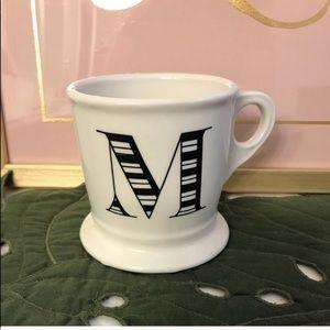 Anthropologie Letter M mug